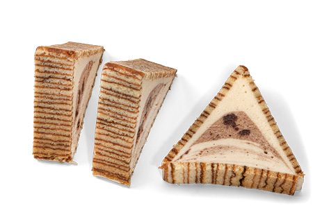 Baumkuchen mit weissem Moccamousse - Bonnevit Feinbäckerei