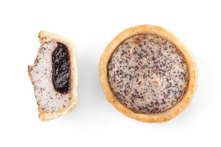 Mini Tarte Powidl-Mohn-Cheesecake